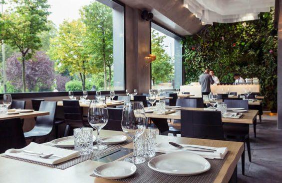 Vista del comedor en el restaurante Origen